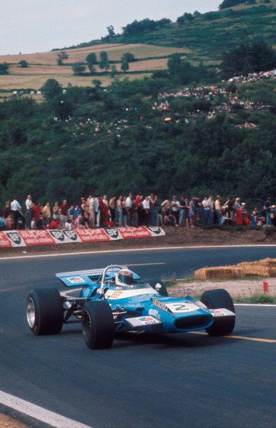 1969 French Grand Prix.Clermont-Ferrand, France.4-6 July 1969.Jackie Stewart (Matra MS80 Ford) 1st position.Ref-69 FRA 10.World Copyright - LAT Photographic