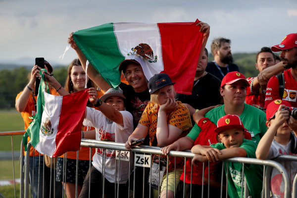 Fan of Sergio Perez, Racing Point in the fan zone