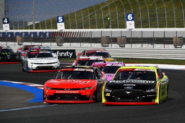 #7: Justin Allgaier, JR Motorsports, Chevrolet Camaro BRANDT #22: Austin Cindric, Team Penske, Ford Mustang Menards/Richmond