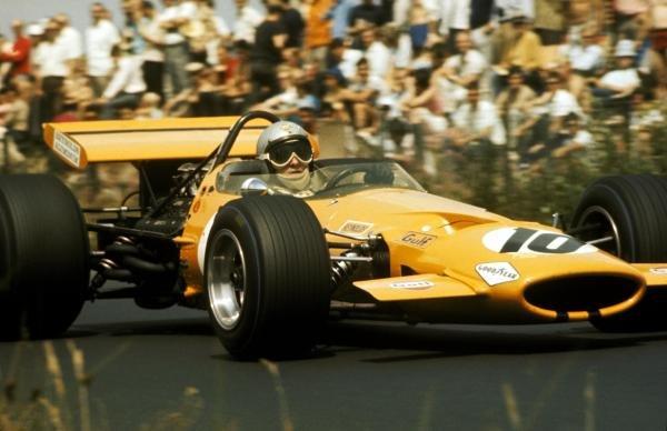 Bruce McLaren (NZL) McLaren M7C finished third. German Grand Prix, Nurburgring, 4 August 1969. BEST IMAGE