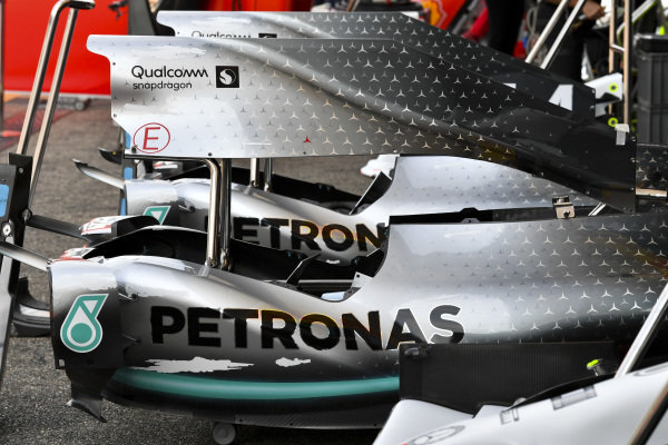 Engine cover of Mercedes AMG F1 W10