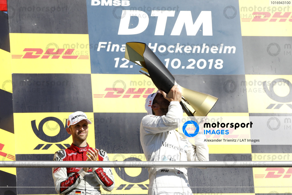 Champion Podium: Champion Gary Paffett, Mercedes-AMG Team HWA.