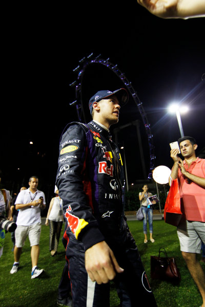 Marina Bay Circuit, Singapore. Sunday 22nd September 2013.  Sebastian Vettel, Red Bull Racing.  World Copyright: Jed Leicester/LAT Photographic. ref: Digital Image _JED3112