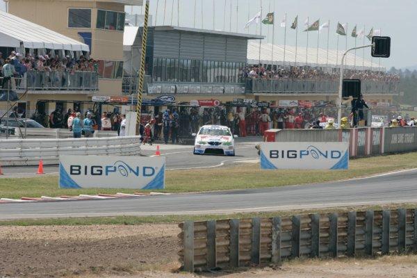 The Ford Performance Racing V8 Supercar of Mark Winterbottom during the Falken Tasmania Challenge, Round 13 of the Australian V8 Supercar Championship Series at Symmons Plains Raceway, Launceston. Nov 16-18, 2007.