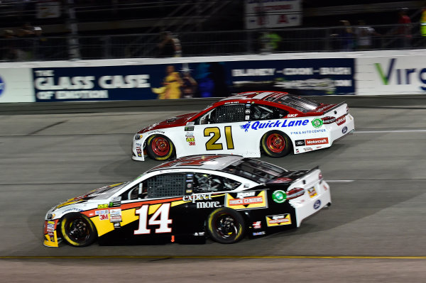 Monster Energy NASCAR Cup Series Federated Auto Parts 400 Richmond Raceway, Richmond, VA USA Saturday 9 September 2017 Clint Bowyer, Stewart-Haas Racing, Rush Truck Centers Ford Fusion, Ryan Blaney, Wood Brothers Racing, Motorcraft/Quick Lane Tire & Auto Center Ford Fusion World Copyright: John K Harrelson / LAT Images