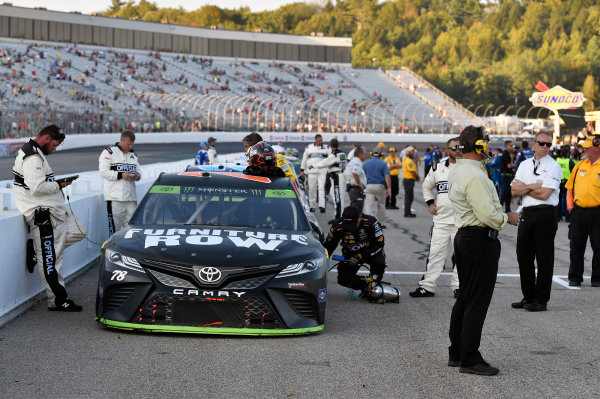 Monster Energy NASCAR Cup Series ISM Connect 300 New Hampshire Motor Speedway Loudon, NH USA Sunday 24 September 2017 Cars inpounded following the race World Copyright: Nigel Kinrade LAT Images