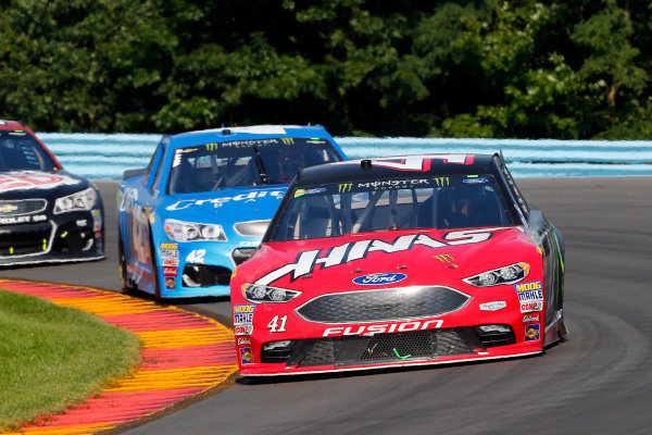 Monster Energy NASCAR Cup Series I LOVE NEW YORK 355 at The Glen Watkins Glen International, Watkins Glen, NY USA Sunday 6 August 2017 Kurt Busch, Stewart-Haas Racing, Haas Automation\Monster Energy Ford Fusion and Kyle Larson, Chip Ganassi Racing, Credit One Bank Chevrolet SS World Copyright: Russell LaBounty LAT Images