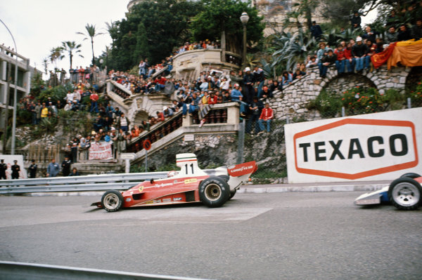 1975 Monaco Grand Prix  Monte Carlo, Monaco. 8-11th May 1975.  Clay Regazzoni, Ferrari 312T.  Ref: 75MON08. World copyright: LAT Photographic