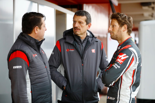 HAAS F1 Car Formula 1 Launch. Barcelona, Spain  Monday 27 February 2017.  World Copyright: Dunbar/LAT Images Ref: _O3I5243