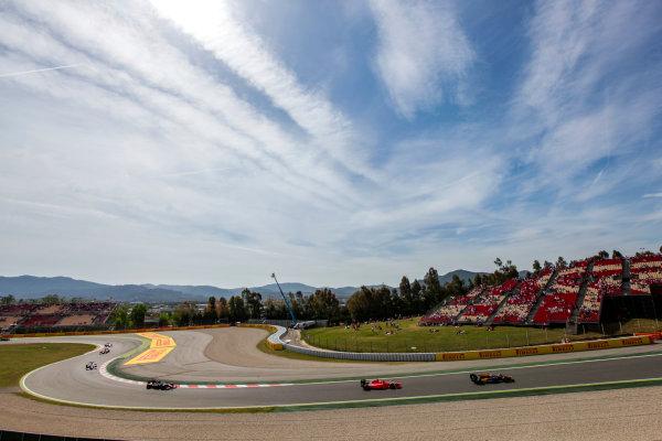 2015 GP2 Series Round 2. Circuit de Catalunya, Barcelona, Spain. Sunday 10 May 2015. Alex Lynn (GBR, DAMS) leads Norman Nato (FRA, Arden International) and Stoffel Vandoorne (BEL, ART Grand Prix). Photo: Zak Mauger/GP2 Series Media Service. ref: Digital Image _MG_7381