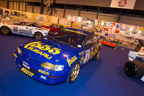 Autosport International Exhibition. National Exhibition Centre, Birmingham, UK. Thursday 8 January 2015. The Subaru Impreza of Colin McRae on the Motorsport News stand. World Copyright: LAT Photographic. ref: Digital Image EL0G1857