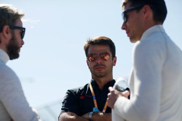 2014/2015 FIA Formula E Championship. Oriol Servia - Director of Racing at Dragon Racing.  Long Beach ePrix, Long Beach, California, United States of America. Saturday 4 April 2015  Photo: Adam Warner/LAT/FE ref: Digital Image _L5R7153