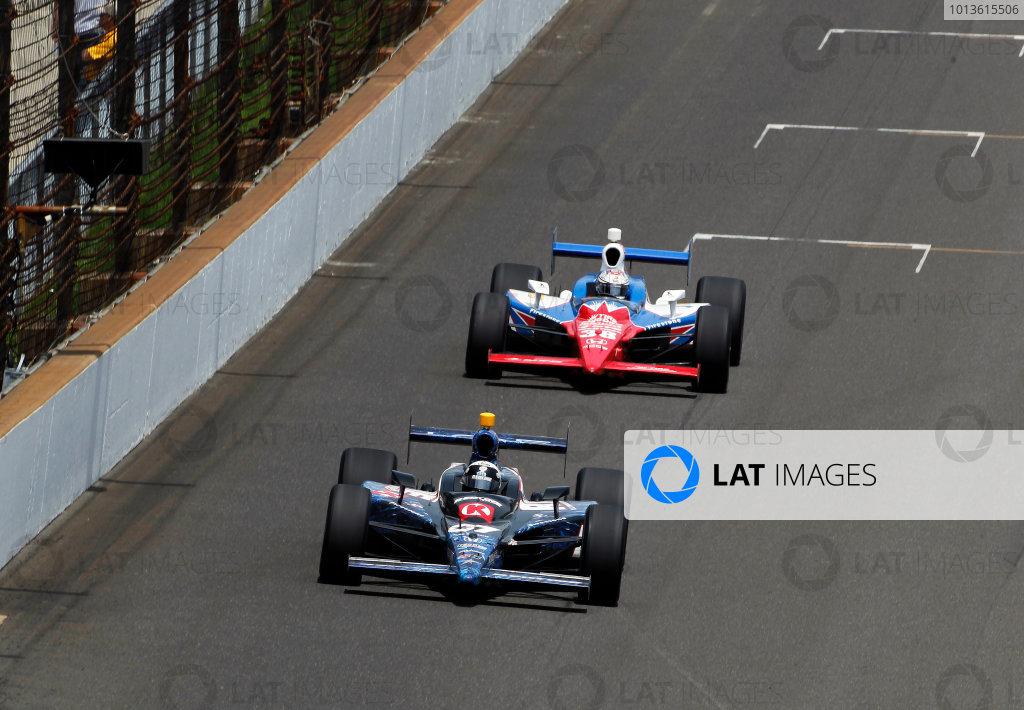 29 May, 2011, Indianapolis, Indiana, USATomas Scheckter leads Graham Rahal.© 2011 Phillip AbbottLAT Photo USA