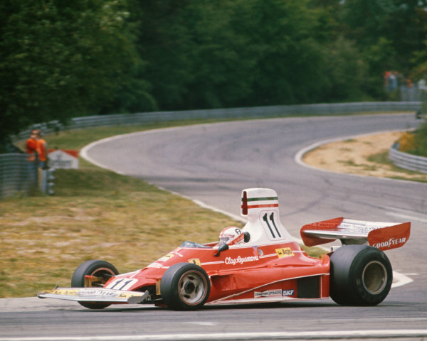 1975 Belgian Grand Prix  Zolder, Belgium. 23-25 May 1975.  Clay Regazzoni, Ferrari 312T, 5th position.  Ref: 75BEL01. World Copyright: LAT Photographic