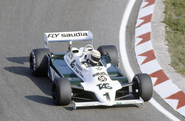 1981 Dutch Grand PrixZandvoort, Holland. 28-30 August 1981.Alan Jones (Williams FW07C-Ford Cosworth), 3rd position. Ref - 81HOL01.World Copyright - LAT Photographic