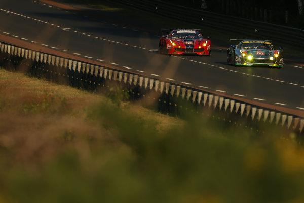 2017 Le Mans 24 Hours Circuit de la Sarthe, Le Mans, France. Sunday 18th  June 2017 #60 Clearwater Racing Ferrari 488 GTE: Richard Wee, Hiroki Katoh, Alvaro Parente  World Copyright: JEP/LAT Images