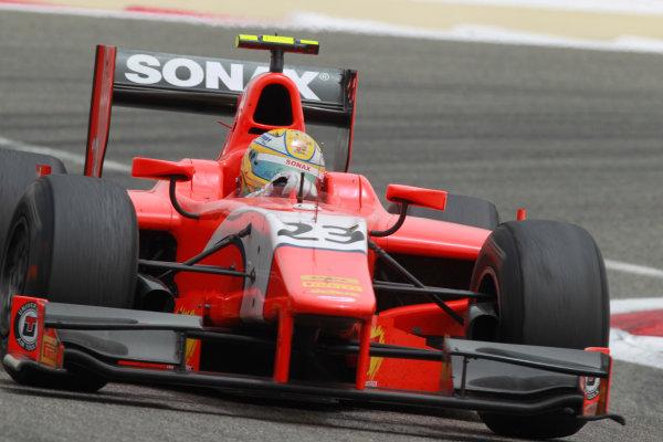 Bahrain International Circuit, Sakhir, Bahrain. 22nd April. Sunday Race.Luiz Razia (BRA, Arden International). Action.  World Copyright: Andrew Ferraro/GP2 Media Service. Ref: Digital Image _Q0C8466.jpg