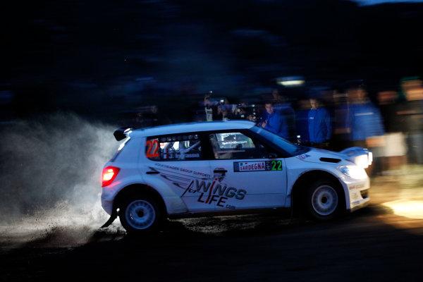 Round 12, Rally d'Italia Sardinia 201218th - 21st October 2012Sebastien Ogier, Skoda, actionWorldwide Copyright: McKlein/LAT