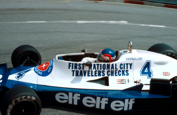 1978 Monaco Grand Prix.Monte Carlo, Monaco.5-7 May 1978.Patrick Depailler (Tyrrell 008 Ford) 1st position at Loews Hairpin. This was his maiden Grand Prix win.Ref-78 MON 12.World Copyright - LAT Photographic