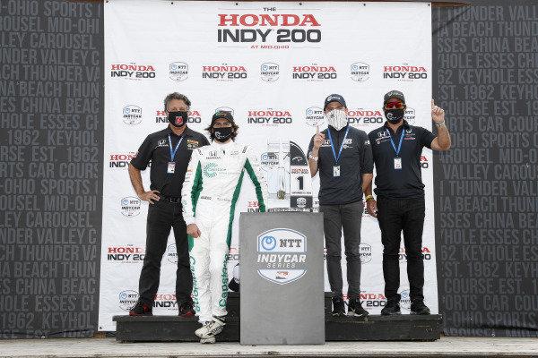 #88: Colton Herta, Andretti Harding Steinbrenner Autosport Honda, Michael Andretti, George Steinbrenner, Mike Harding