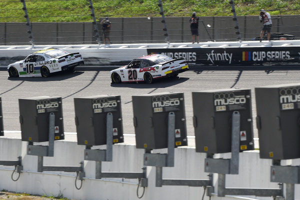 #10: Ross Chastain, Kaulig Racing, Dyna-Gro Seed Chevrolet Camaro, #20: Harrison Burton, Joe Gibbs Racing, Morton Buildings/DEX Imaging Toyota Supra