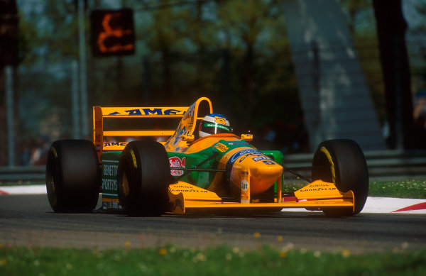 1993 San Marino Grand Prix.Imola, Italy.23-25 April 1993.Michael Schumacher (Benetton B193B Ford) 2nd position.Ref-93 SM 12.World Copyright - LAT Photographic
