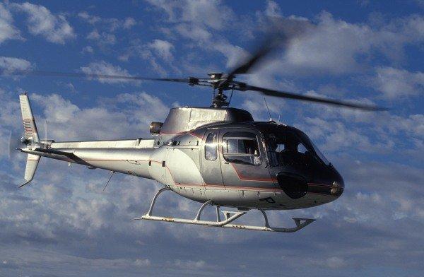 Ayrton Senna in a helicopter.