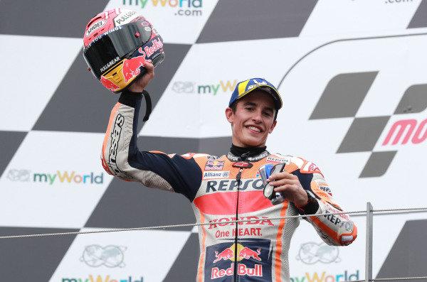 Podium: second place Marc Marquez, Repsol Honda