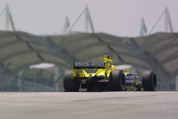 2001 Malaysian Grand Prix.Sepang, Kuala Lumpur, Malaysia.16-18 March 2001.Jarno Trulli (Jordan EJ11 Honda) 8th position.World Copyright - LAT PhotographicRef-8 9MB Digital