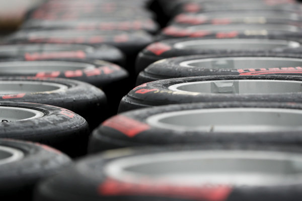 SOCHI AUTODROM, RUSSIAN FEDERATION - SEPTEMBER 26: Pirelli tyres during the Sochi at Sochi Autodrom on September 26, 2019 in Sochi Autodrom, Russian Federation. (Photo by Carl Bingham / LAT Images / FIA F3 Championship)
