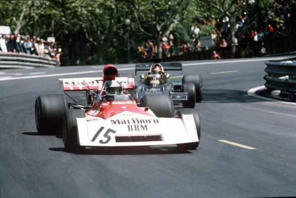Montjuich Park, Barcelona, Spain.27-29 April 1973.Jean-Pierre Beltoise (BRM P160).Ref-35mm 73 ESP 27.World Copyright - LAT Photographic