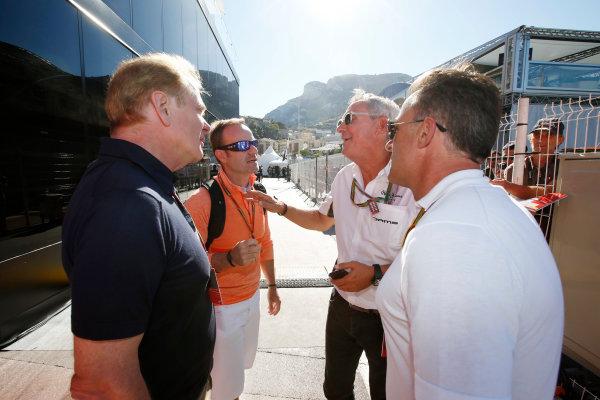 Monte Carlo, Monaco. Saturday 24 May 2014. Jonathan Palmer and Rubens Barrichello. World Copyright: Charles Coates/LAT Photographic. ref: Digital Image _N7T7567