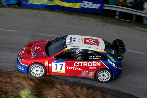 2003 FIA World Rally Champs. Round 13 Catalunya Rally 23rd-26th October 2003.Colin McRae, Citroen, action. World Copyright: McKlein/LAT
