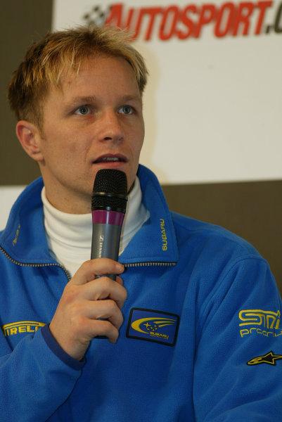 2004 Autosport International.Petter Solberg, WRC World Champion.NEC, Birmingham, England.8-11th January 2004.World Copyright: Spinney/LAT Photographic.Ref.:Digital Image Only.