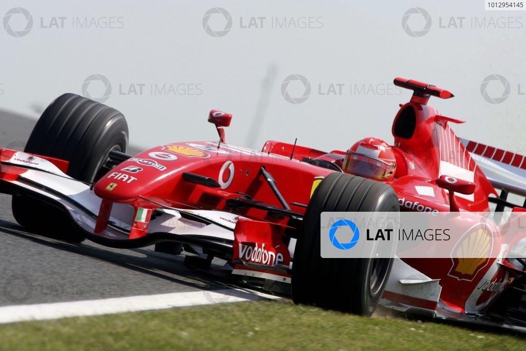 2006 British Grand Prix - Friday Practice Silverstone, England. 8th - 11th June. Michael Schumacher, Ferrari 248F1, action. World Copyirhgt: Jakob Ebrey/LAT Photographic ref: Digital Image JEB23507