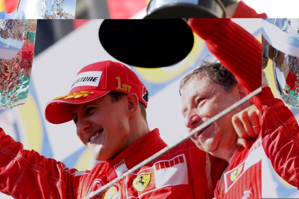 2006 San Marino Grand Prix - Sunday Race Imola, Italy. 20th - 23rd April 2006 Michael Schumacher, Ferrari 248F1, 1st position, and Jean Todt on the podium. World Copyright: Lorenzo Bellanca/LAT Photographic ref: Digital Image ZD2J7958