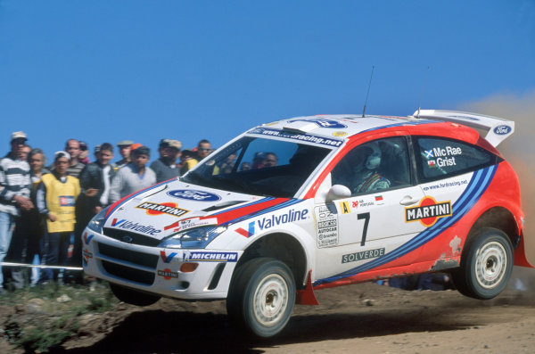Portuguese Rally, Portugal. 21-24 March 1999.Colin McRae/Nicky Grist (Ford Focus WRC), 1st position.World Copyright: LAT PhotographicRef: 35mm transparency 99RALLY04