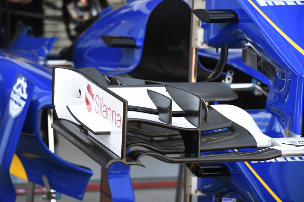 Sauber C34 nose and front wings detail at Formula One World Championship, Rd1, Australian Grand Prix, Preparations, Albert Park, Melbourne, Australia, Wednesday 11  March 2015.