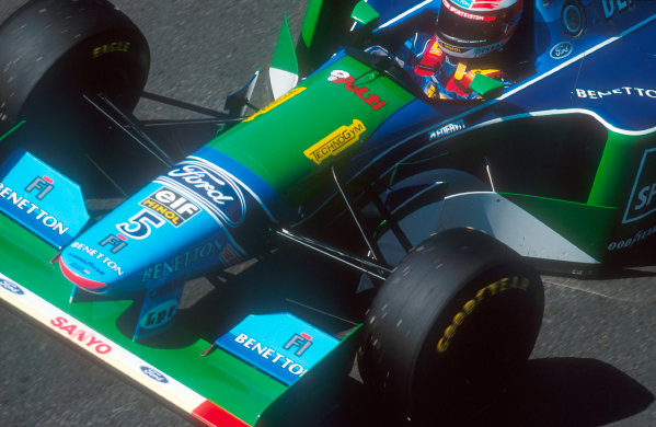 Magny-Cours, France.30/6-2/7 1994.Michael Schumacher (Benetton B194 Ford) 1st position.Ref-94 FRA 11.World Copyright - LAT Photographic