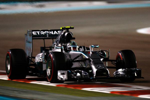 Yas Marina Circuit, Abu Dhabi, United Arab Emirates. Saturday 22 November 2014. Nico Rosberg, Mercedes F1 W05 Hybrid. World Copyright: Glenn Dunbar/LAT Photographic. ref: Digital Image _W2Q5759