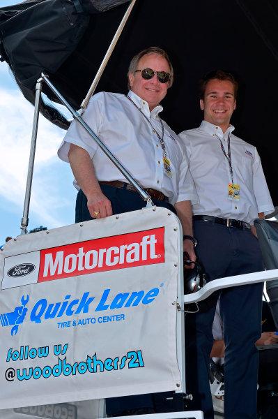 June14-16, 2013, Brooklyn, Michigan USA Edsel Ford II and his son. © 2013, Brian Czobat LAT Photo USA .