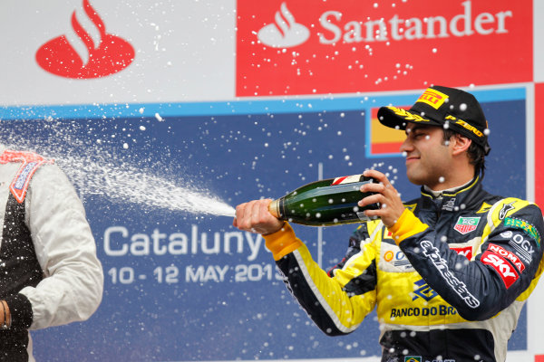 2013 GP2 Series. Round 3.  Circuit de Catalunya, Barcelona Spain. 12th May 2013. Sunday Race. Felipe Nasr (BRA, Carlin). World Copyright: Alastair Staley/GP2 Series Media Service. Ref: _A8C4256