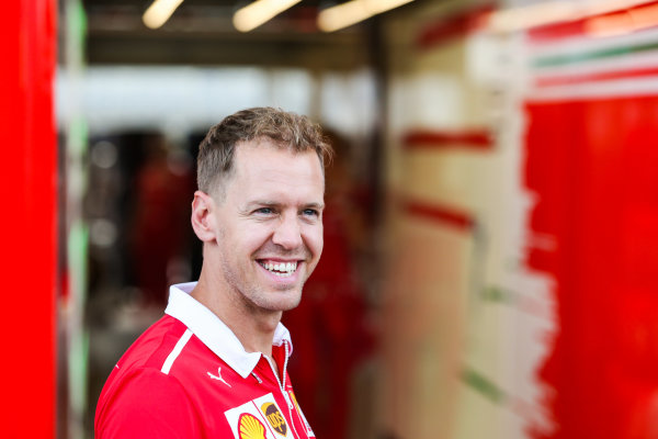 Circuit of the Americas, Austin, Texas, United States of America. Thursday 19 October 2017. Sebastian Vettel, Ferrari. World Copyright: Charles Coates/LAT Images  ref: Digital Image AN7T1270
