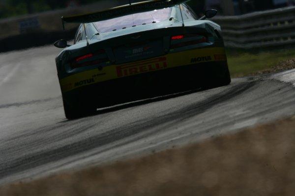 2007 Le Mans Test Day2nd and 3rd June 2007.Le Mans, France.Sunday Test DayFabio Babini (ITA)/Jamie Davies (GBR)/Matteo Malucelli (ITA) (no 100 Aston Martin DBR9) action.World Copyright: Glenn Dunbar/LAT Photographic. ref: Digital Image YY8P5823