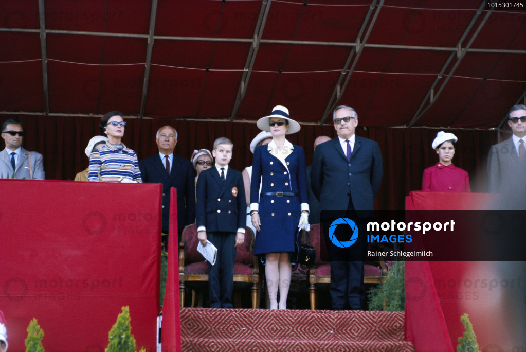 The royal house of Monaco: Prince Albert, his mother Gracia Patricia, Prince Rainier de Monaco and Princess Caroline