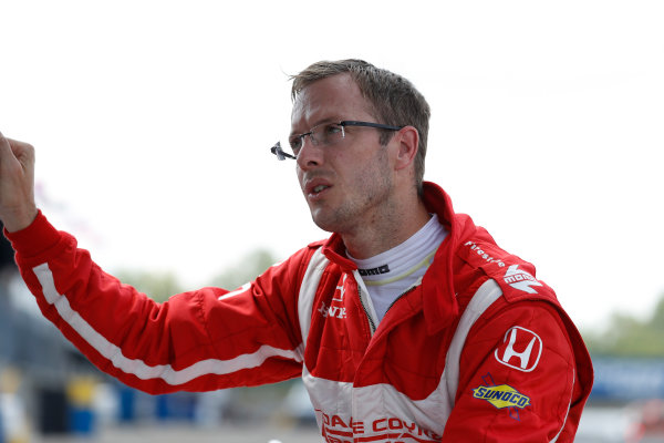 Verizon IndyCar Series Honda Indy 200 at Mid-Ohio Mid-Ohio Sports Car Course, Lexington, OH USA Monday 31 July 2017 Sebastien Bourdais tests his Honda IndyCar for the first time since his major crash at the Indy 500 World Copyright: Michael L. Levitt LAT Images