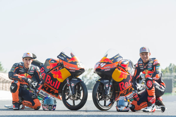2017 Moto3 Championship - Round 7 Circuit de Catalunya, Barcelona, SpainThursday 8 June 2017 Niccolo Antonelli, Red Bull KTM Ajo, Bo Bendsneyder, Red Bull KTM Ajo World Copyright: Gold & Goose Photography/LAT Images ref: Digital Image 675599