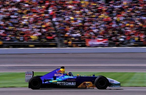 Heinz-Harald Frentzen (GER), Sauber Petronas C22, finished third.United States Grand Prix, Rd15, Indianapolis Motor Speedway, Indianapolis, USA. 28 September 2003.BEST IMAGE