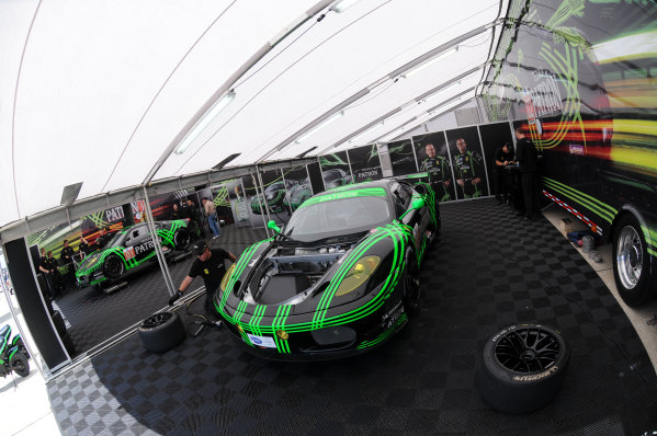 17-20 March 2010, Sebring, Florida, USAThe Tequila Patron Ferrari 430's are prepared for practice.©2010, Paul Webb, USALAT Photographic