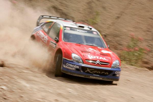 2004 FIA World Rally Champs. Round seven, Rally Turkey.24th- 27th June 2004.Sebastien Loeb, Citroen, action.World Copyright: McKlein/LAT